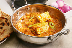 Paneer Butter Masala with Prantha Royalty Free Stock Photo
