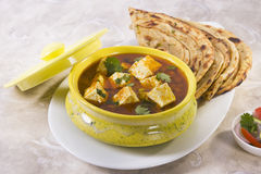 Paneer Butter Masala with Pratha Royalty Free Stock Image