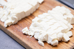 Paneer cut into pieces Royalty Free Stock Images