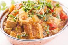 Paneer jalfrezi. Paneer vegetable jalfrezi in a bowl Royalty Free Stock Image
