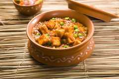Paneer Masala with Peas. Or Cheese Cooked with Peas, Indian Dish Royalty Free Stock Image
