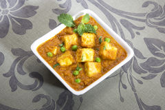 Paneer Masala with Peas Royalty Free Stock Photography
