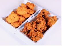 Paneer pakora and vegetable pakora Royalty Free Stock Image