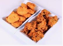 Paneer pakora and vegetable pakora Royalty Free Stock Image