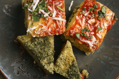 Paneer Palak Dhokla - A snack from India. Top View of Paneer Palak Dhokla a snack made from cottage cheese and palak (spinach Royalty Free Stock Photo