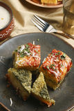 Paneer Palak Dhokla - A snack from India Royalty Free Stock Photos
