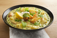 Paneer and Peas Indian Curry Stock Photos