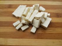 Paneer pieces Royalty Free Stock Images