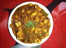 Free Paneer Shimla Mirch Spicy Curry Stock Photo - 141379540