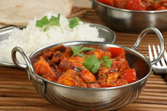 Paneer and sweet pepper curry Stock Image