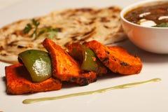 Paneer Tikka kebab från Indien Arkivfoto