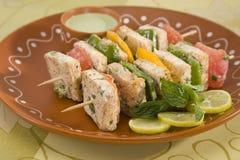 Paneer Tikka Kebab Stock Photo