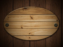 Panel. Old wood panel on the wooden wall grunge Royalty Free Stock Photos