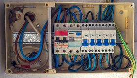 Panel with automatic fuses Stock Photography