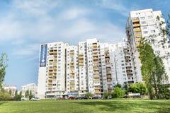 Panel buildings  built during communism period in Bulgaria Stock Photo