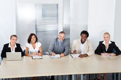 Panel of corporate personnel officers Stock Photography