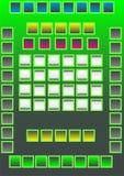 Panel de control. Stock de ilustración