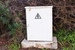 Panel de control al aire libre de Electric Power Foto de archivo libre de regalías