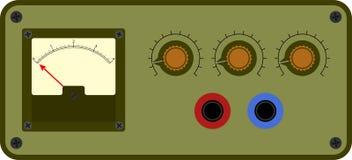 Panel de control analógico stock de ilustración