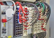 Panel de control con los dispositivos electrónicos Foto de archivo libre de regalías