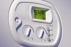 Panel de control de la caldera de la calefacción Imagen de archivo
