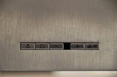 Panel de control de la capilla de cocina Imágenes de archivo libres de regalías
