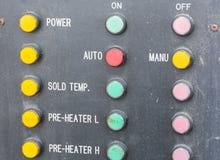Panel de control de la máquina Imagenes de archivo