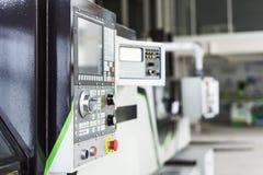 Panel de control de la máquina del CNC imágenes de archivo libres de regalías