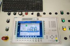Panel de control de la máquina stonemaking SP2000 Foto de archivo