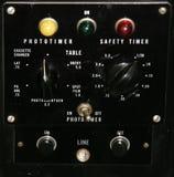 Panel de control de la vendimia Foto de archivo libre de regalías