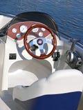 Panel de control del barco de motor Foto de archivo libre de regalías