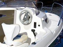 Panel de control del barco de motor Imágenes de archivo libres de regalías
