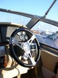 Panel de control del barco de motor Fotos de archivo