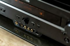 Panel de control del cierre moderno de la TV imagenes de archivo