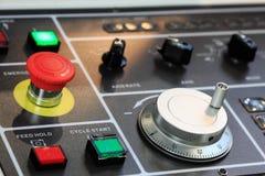 Panel de control del CNC Fotografía de archivo