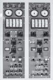 Panel de control del generador retro Foto de archivo libre de regalías