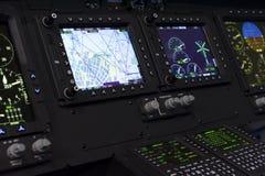 Panel de control del helicóptero Foto de archivo libre de regalías