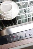 Panel de control del lavaplatos Foto de archivo libre de regalías