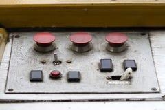 Panel de control del metal viejo Imágenes de archivo libres de regalías