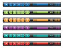 Panel de control del reproductor multimedia libre illustration