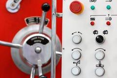 Panel de control del torno Imagen de archivo