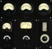 Panel de control del vintage fotografía de archivo libre de regalías
