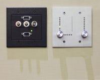 Panel de control dos para el ordenador y la luz Foto de archivo