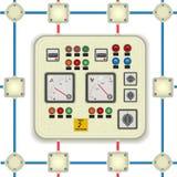 Panel de control eléctrico Foto de archivo libre de regalías