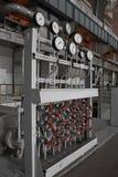Panel de control en central eléctrica Foto de archivo