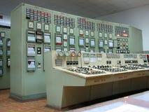 Panel de control en central electrica Fotografía de archivo