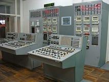 Panel de control en central electrica Fotos de archivo libres de regalías