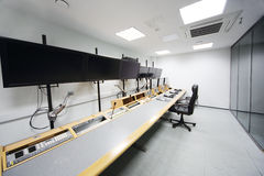 Panel de control en el sitio para montar películas Imagen de archivo