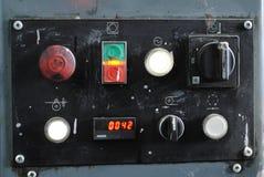 Panel de control en la tipografía Fotografía de archivo libre de regalías