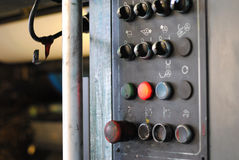 Panel de control en la tipografía Foto de archivo libre de regalías